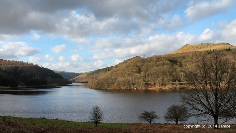 Lady Bower Reservoir, Hope Valley, Derbyshire, England.© 2014 Janice